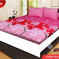 Sprei My Love all New Twill T30 ukuran 180x200  Cherry Blossom