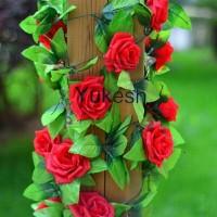 Daun Plastik / Daun Rambat / Bunga Mawar Palsu