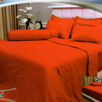 BEDCOVER SET VALLERY QUINCY 180 X 200 X 30 - EMBOS POLOS RED (MERAH)