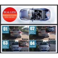Rear View Mirror Car Dual Camera 1080P -Spion Kamera mobil