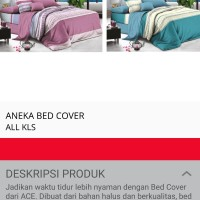 Bed Cover Krishome ukuran 150 x 210 cm Murah