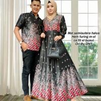 Batik Couple gamis semi sutera rabbani