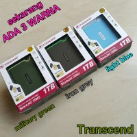 Transcend 1TB HDD Type M Hardisk Eksternal Anti shock 25M3 B Biru Blue