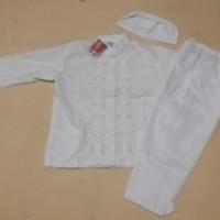 Jual Baju Muslim/baju koko murah untuk anak umur 6, 7, 8 tahun warna Putih  Murah