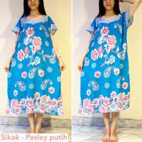 Batik Hengky - Sikak Pasley putih - Baju Tidur Wanita Hamil Dress