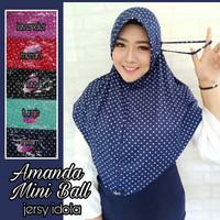 Jilbab hijab krudung kerudung serut amanda mini ball