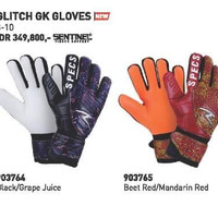sarung tangan kiper sepak bola Specs Blackout GK gloves tebal nyaman