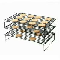 Cooling Rack 3 Tingkat Rak Pendingin Kue Roti Cookies 3 Susun