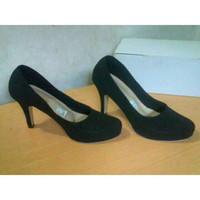Sepatu High heels Pantopel Hitam polos Boots Wedges Adidas Nike Vans