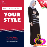 Baju Ibu Hamil Maxi Dress Busui Gamis Busui BabyPeek1 Momoty Modis