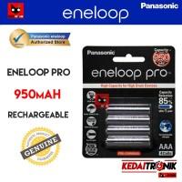 Battery Panasonic ENELOOP PRO 950 mAH BLACK Baterai Charge AAA A3 ORI