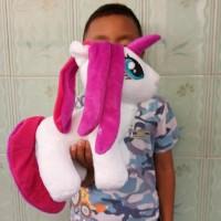 Boneka Kuda Poni Lucu Ukuran 25cm - Boneka Unicorn Lucu Murah