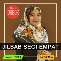 Jilbab Segi Empat 1729-3- Jilbab Casual - Soie Silk - Import Quality