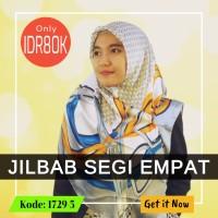 Jilbab Segi Empat 1729-5- GUCC1- Jilbab Casual - Soie Silk - Import Qu