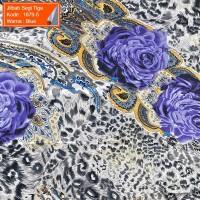 Jilbab Segi Tiga 1679-5 - Jilbab Instan - Motif Bunga - Soie Silk - Im