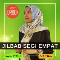 Jilbab Segi Empat 1729-4- CH4N3L - Jilbab Casual - Soie Silk - Import