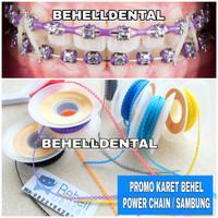 Karet Power Chain - untuk behel / bracket gigi - 10cm (cukup utk atas