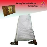 Sarung Wadimor Putih Polos / Sarung Putih Polos