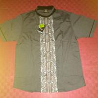 Original 100 % Baju Muslim Pria / Koko COLE Black-Grey