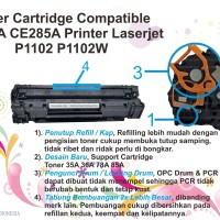 CARTRIDGE TONER C285A  85A PRINTER HP P1102 P1102W CANON 325 M1132