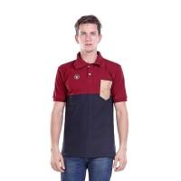 Baju Kaos Polo Shirt Kerah Pria Cowok Cowo Berkerah Merah H 0693 HN