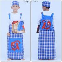 Sarung instan karakter anak spiderman -biru size M