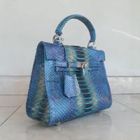tas wanita kulit ular phyton asli model hermes