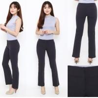 ANN Flare Crop Dark Grey Pants - Celana Panjang Branded Murah