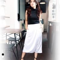Celana Kulot Wanita OVERLAP CULOTTES (JP151- - Putih, ALLSIZE