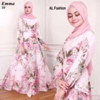 Gamis Syari Maxi Emma 5 / Baju Muslim/ Pakaian Muslim