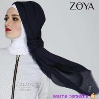 Promo... Zoya Kerudung Unvinished Swarovski / segi empat / jilbab /