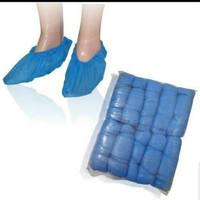 jas hujan sepatu sekali pakai / jas hujan sepatu plastik isi 5 pasang