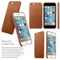 Hardcase PU Leather Apple Logo Cover Case Casing HP iPhone 5 5s 5SE