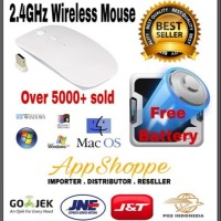 APPLE MAGIC MOUSE WIRELESS 2 4GHz MACBOOK LAPTOP WITH BATTERY WHITE