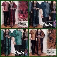 Baju Couple Alvia ( Sepasang Dress Kaftan + Kemeja ) Setelan Batik