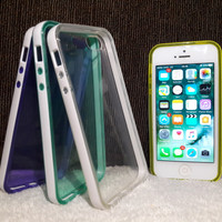 Case Warna iPhone 5 / 5c / 5s / 5se Anti Shock List Putih