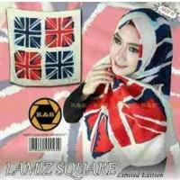 segi empat pasmina bendera inggris kotak hijab jilbab k Murah