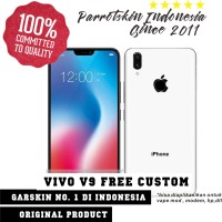 Garskin Vivo V9 Motif iPhone X white -Free Custom Gambar for case
