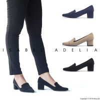 Isabel SALLY Sepatu Wanita Hak Tinggi Pantofel Kerja Block Heels
