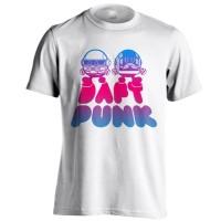 Kaos Band Daft Punk C04 Putih Distro Baju Musik Ukuran S - XXL