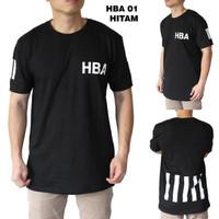 Kaos Pria HBA 01 hitam baju kaos lebaran murah keren adem kekinian