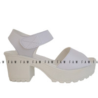 Jual Sepatu High Heel Heels Boot Boots Morymony Docmart Putih Murah