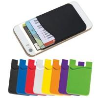 Silicon Card Holder Sticky On Wallet Tempat slot kartu kredit Mobil