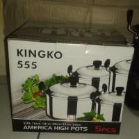 alat dapur America High Pots Panci Set Steamer kingko