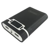 Taffware DIY Power Bank Case 2 USB Port & LCD 4x18650 - Black