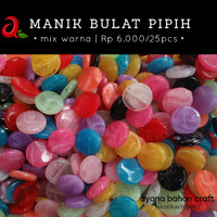 Manik Bulat Pipih Mix Warna