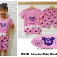 STKD293 - Setelan Anak Mickey Girls AGB Pink
