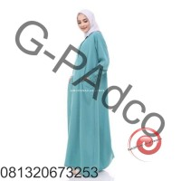 Pd-MK !! Gamis Polos Wolfis Wolvis Wolpeach Jumbo XLSP