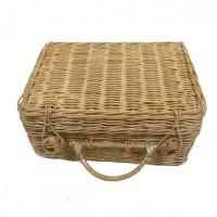 Handmade Rattancraft - Kerajinan Tangan Rotan - Tas Koper Kotak Medium
