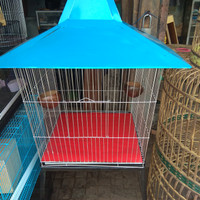 kandang Burung Beo Ukuran Besar warna biru